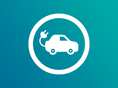Electric vehicle icon